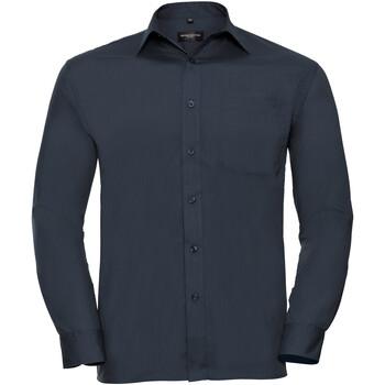 Vêtements Homme Chemises manches longues Russell 934M Bleu marine