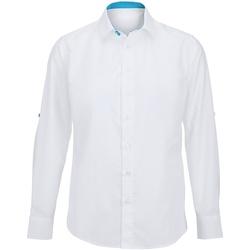 Vêtements Homme Chemises manches longues Alexandra Hospitality Blanc/Bleu