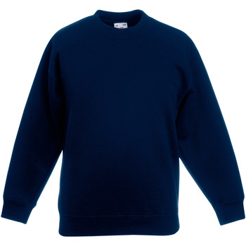 Vêtements Enfant Sweats Fruit Of The Loom 62041 Bleu marine foncé