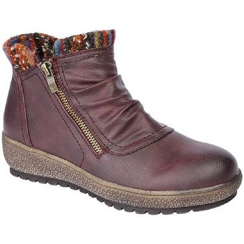 Chaussures Femme Boots Cipriata Knitted Bordeaux