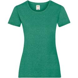 Vêtements Femme T-shirts manches courtes Fruit Of The Loom 61372 Vert chiné