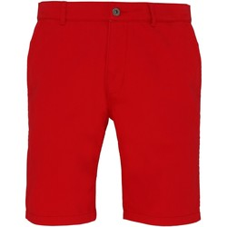 Vêtements Homme Shorts / Bermudas Asquith & Fox Chino Rouge