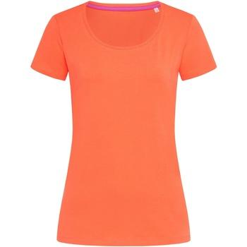 Vêtements Femme T-shirts manches courtes Stedman Stars Claire Saumon