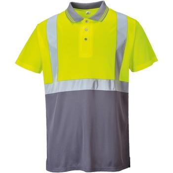 Vêtements Homme Polos manches courtes Portwest  Jaune/Gris