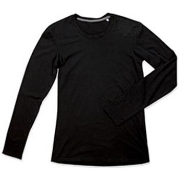 Vêtements Homme T-shirts manches longues Stedman Stars Clive Noir