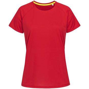 Vêtements Homme T-shirts manches courtes Stedman Raglan Rouge