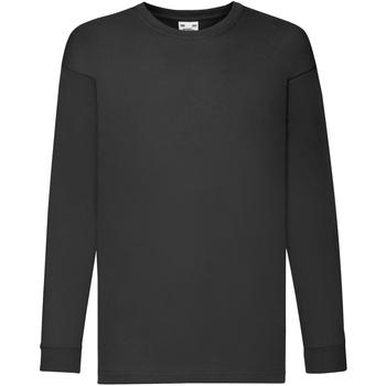 Vêtements Enfant T-shirts manches longues Fruit Of The Loom 61007 Noir