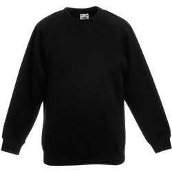 Vêtements Enfant Sweats Fruit Of The Loom Raglan Noir