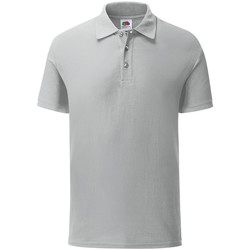 Vêtements Homme Polos manches courtes Fruit Of The Loom Iconic gris clair