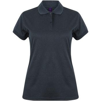 Vêtements Femme Polos manches courtes Henbury Coolplus Bleu marine chiné