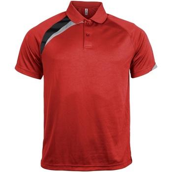 Vêtements Homme Polos manches courtes Kariban Proact Proact Rouge/Noir/Gris