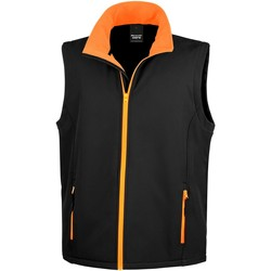 Vêtements Homme Gilets / Cardigans Result Softshell Noir / Orange