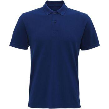 Vêtements Homme Polos manches courtes Asquith & Fox AQ017 Bleu indigo