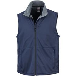 Vêtements Homme Gilets / Cardigans Result Soft Shell Bleu marine