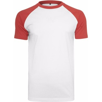 Vêtements Homme T-shirts manches courtes Build Your Brand Contrast Blanc/Rouge