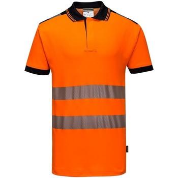 Vêtements Homme Polos manches courtes Portwest PW368 Orange / noir