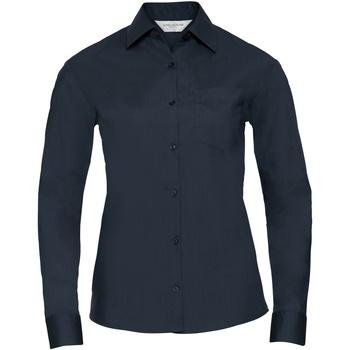 Vêtements Femme Chemises / Chemisiers Russell Collection Chemisier à manches longues BC1026 Bleu marine