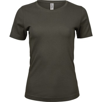 Vêtements Femme T-shirts manches courtes Tee Jays Interlock Oliva Oscuro