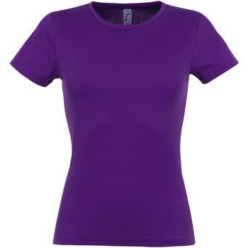Vêtements Femme T-shirts manches courtes Sols Miss Pourpre foncé