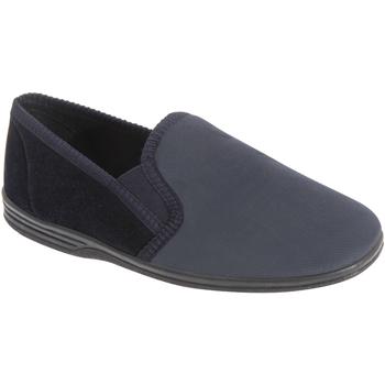 Chaussures Homme Chaussons Zedzzz Gusset Bleu marine/Gris