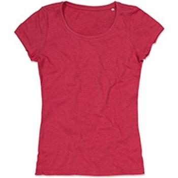 Vêtements Femme T-shirts manches courtes Stedman Stars Lisa Rouge chiné