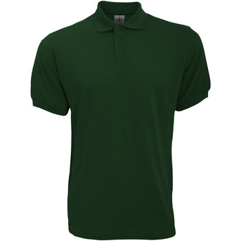 Vêtements Homme Polos manches courtes B And C Safran Vert bouteille