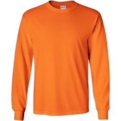 Vêtements Homme T-shirts manches longues Gildan Ultra Orange sécurité
