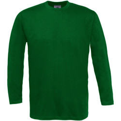 Vêtements Homme T-shirts manches longues B And C Exact 150 Vert bouteille