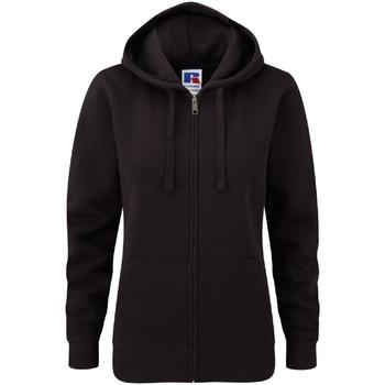 Vêtements Femme Sweats Russell Sweatshirt à capuche et fermeture zippée BC2731 Noir