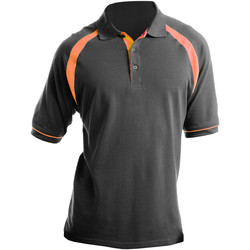 Vêtements Homme Polos manches courtes Kustom Kit KK615 Gris/Orange
