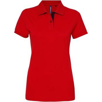 Vêtements Femme Polos manches courtes Toutes les chaussures femme Contrast Rouge/Bleu marine