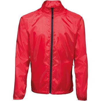 Vêtements Homme Coupes vent 2786 Contrast Rouge/Noir