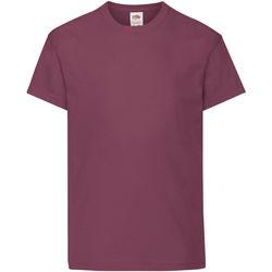 Vêtements Enfant T-shirts manches courtes Fruit Of The Loom Original Bordeaux