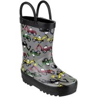 Chaussures Garçon Bottes de pluie Cotswold PUDDLE BOOT Gris / noir