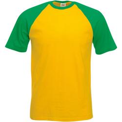 Vêtements Homme T-shirts manches courtes Fruit Of The Loom 61026 Tournesol/Vert tendre