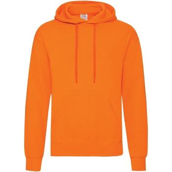 Vêtements Homme Sweats Fruit Of The Loom Hooded Orange