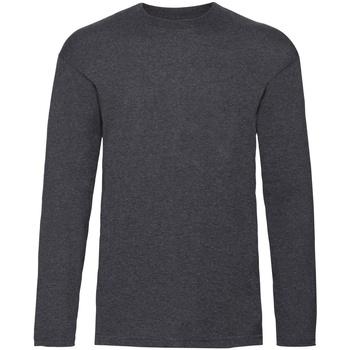 Vêtements Enfant T-shirts manches longues Fruit Of The Loom 61007 Gris foncé marne