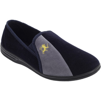 Chaussures Homme Chaussons Zedzzz Aaron Bleu marine/Gris