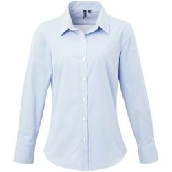Vêtements Femme Chemises / Chemisiers Premier Check Bleu clair/Blanc