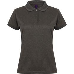 Vêtements Femme Polos manches courtes Henbury Coolplus Gris foncé chiné