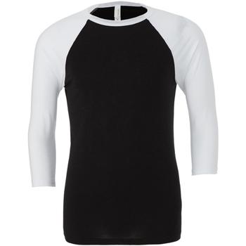 Vêtements Homme T-shirts manches longues Bella + Canvas Baseball Noir / blanc