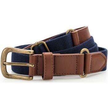 Accessoires textile Homme Ceintures Toutes les chaussures femme AQ902 Bleu marine