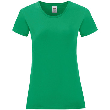Vêtements Femme T-shirts manches courtes Fruit Of The Loom Iconic Vert