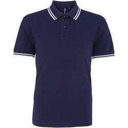 Vêtements Homme Polos manches courtes Asquith & Fox Classics Bleu marine/blanc