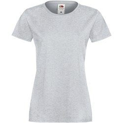 Vêtements Femme T-shirts manches courtes Fruit Of The Loom Sofspun Gris chiné