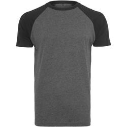 Vêtements Homme T-shirts manches courtes Build Your Brand Contrast Gris foncé / noir