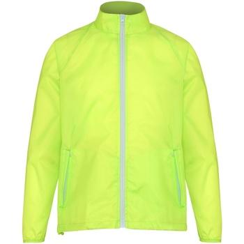 Vêtements Homme Coupes vent 2786 Contrast Jaune/Blanc