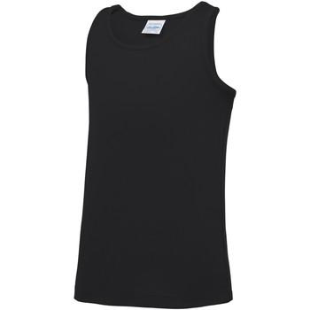 Vêtements Enfant Débardeurs / T-shirts sans manche Awdis JC07J Noir