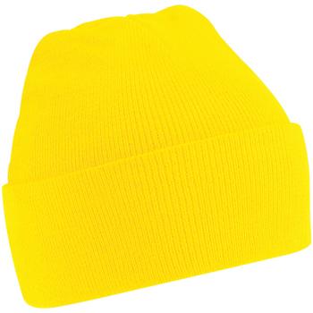 Accessoires textile Bonnets Beechfield Soft Feel Jaune clair