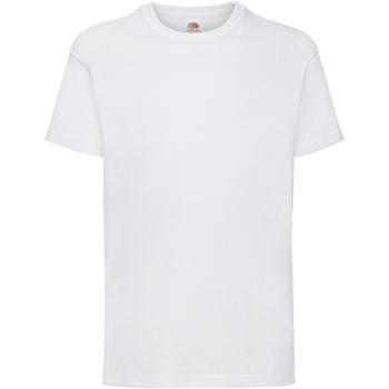 Vêtements Enfant T-shirts manches courtes Fruit Of The Loom 61033 Blanc